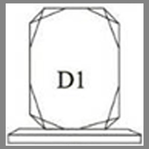 แบบโล่ห์อะคริลิก D1