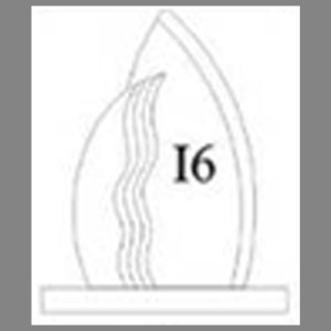 แบบโล่ห์อะคริลิก I6
