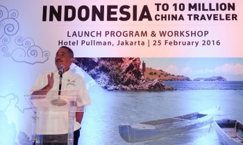 Menteri Pariwisata Arief Yahya saat Launch Program & Workshop 'Indonesia to 10 Million China Travellers'. (Foto: Kementerian Pariwisata)