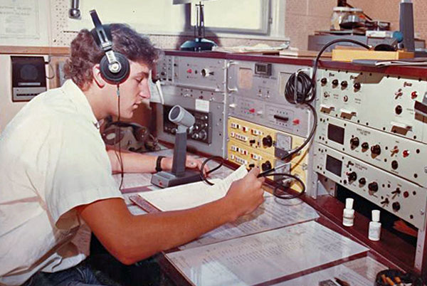 ZLC radio operator Tim Sollart at work