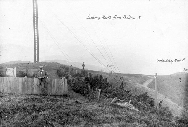 "Undated photo of a ""new wooden mast"" at ZLW"