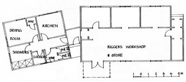 Plan of the riggers' depot at ZLW in 1985.