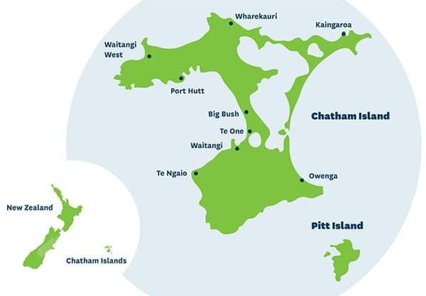 Map: Chatham Islands