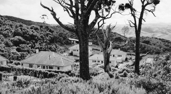 Technicians' quarters, Makara Radio. Date unknown.