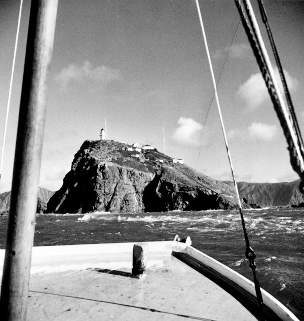 Approaching the Brothers aboard the lighthouse tender Enterprise, probably in the late 1960s