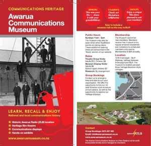 Awarua Communications Museum brochure