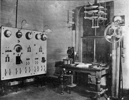 Apparatus at Chatham Islands wireless station in 1913