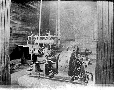 Engine generator set at Chatham Islands wireless station in 1913