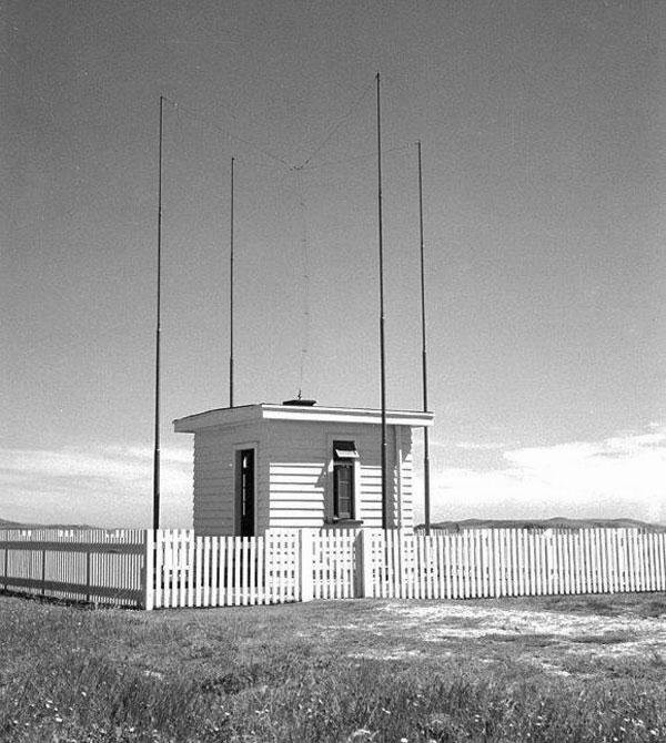 HF Direction Finding hut no. 2 at Awarua Radio