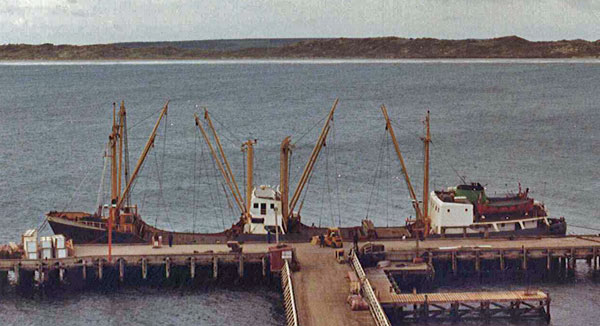 MV Holmdale at Chatham Islands c1982