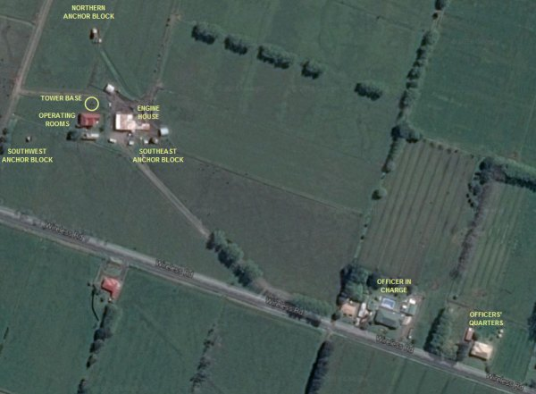 The former site of Awanui Radio VLA as seen on Google satellite view in 2016.