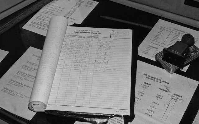 Himatangi Radio transmitter log, 11 May 1981. Click to enlarge.