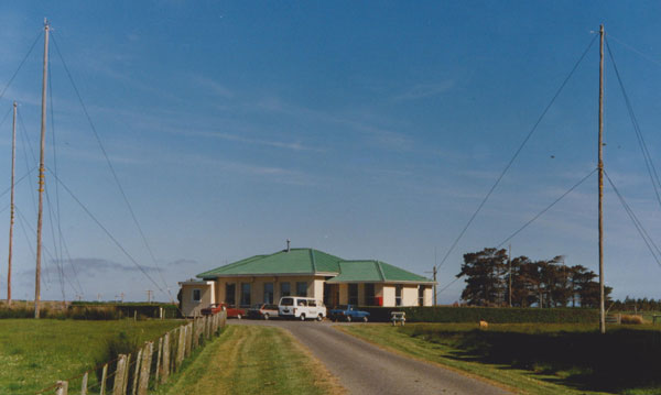 The Awarua Radio receiving station, opened in 1940 and seen in 1991, the year the station closed