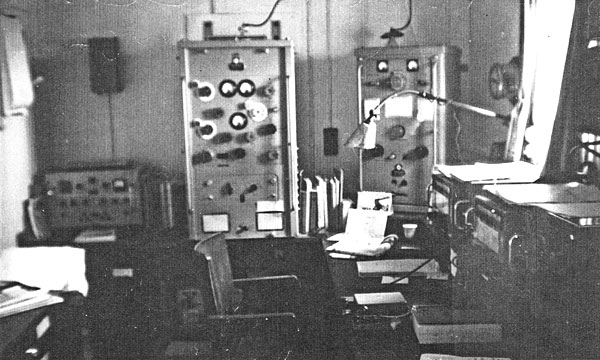Persic radio room in 1965