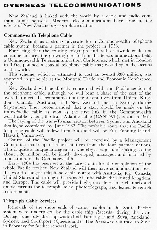 New Zealand Post Office Annual Report 1960