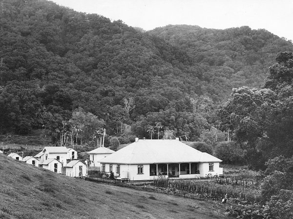 The Raoul Island settlement in 1949