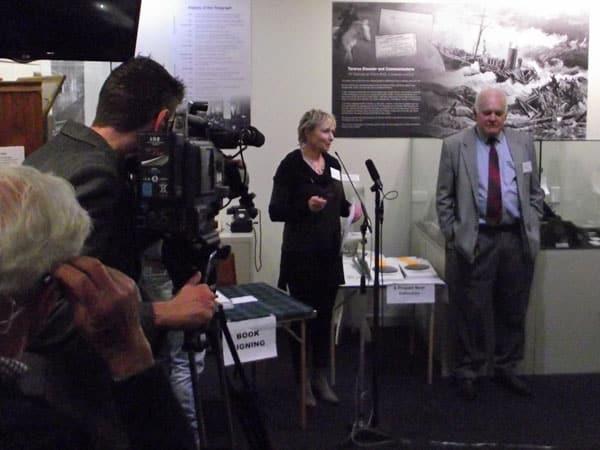 Paula McKenzie, President of the Awarua Communications Museum, welcomes guests