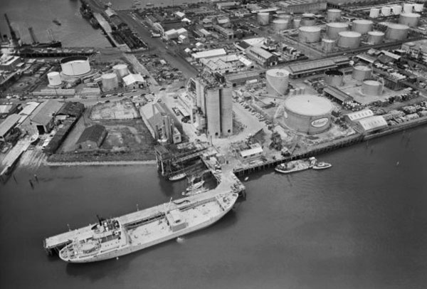 MV John Wilson at Cement Wharf, adjacent to Jellicoe and Hamer Streets, Auckland, 4 December 1961