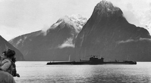 HMS Telemachus in Milford Sound, 1953