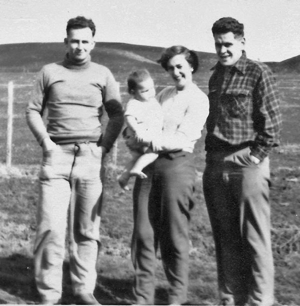 On a trip to Owenga to visit the grave of the last Moriori, with the doctor (right) and his wife