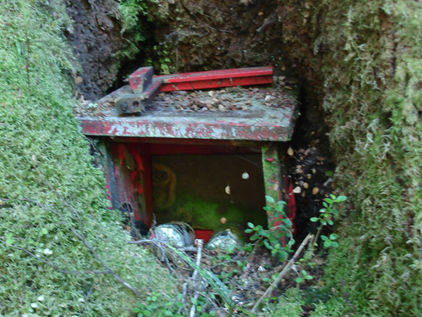 Telephone batteries found abandoned on the Milford Track in 2010