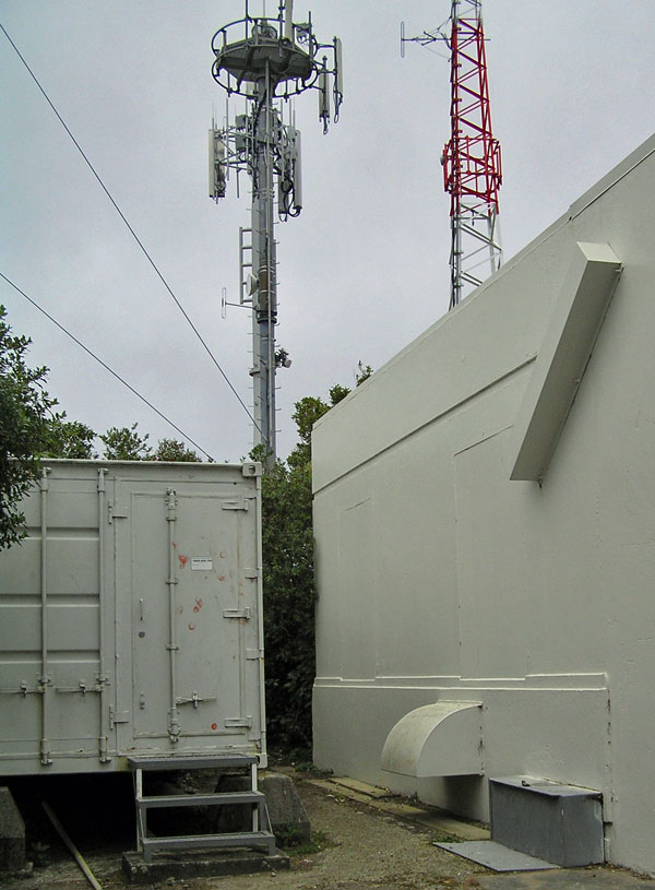 Antennas at the former site of Wellington Radio ZLW, 25 Aug 2017