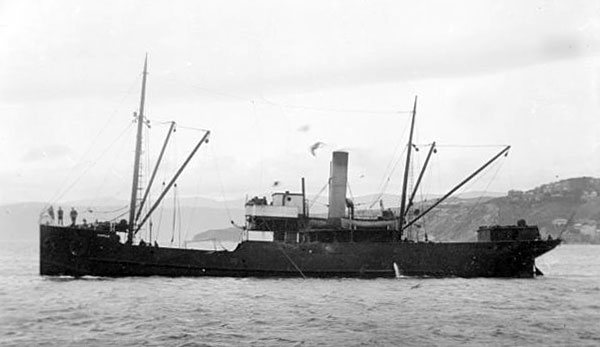 SS Ripple in Wellington Harbour, date unknown