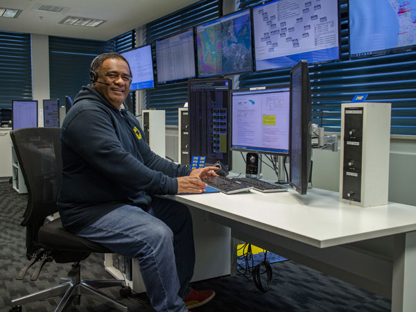 Aisea, an operator from Nuku'alofa Radio in Tonga who visited the New Zealand Maritime Operations Centre -  Taupo Maritime Radio for several months in 2017