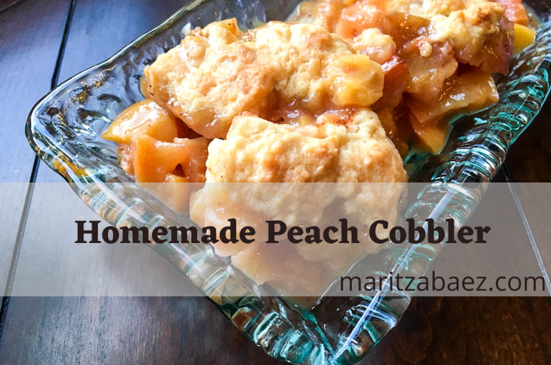 Homemade Peach Cobbler