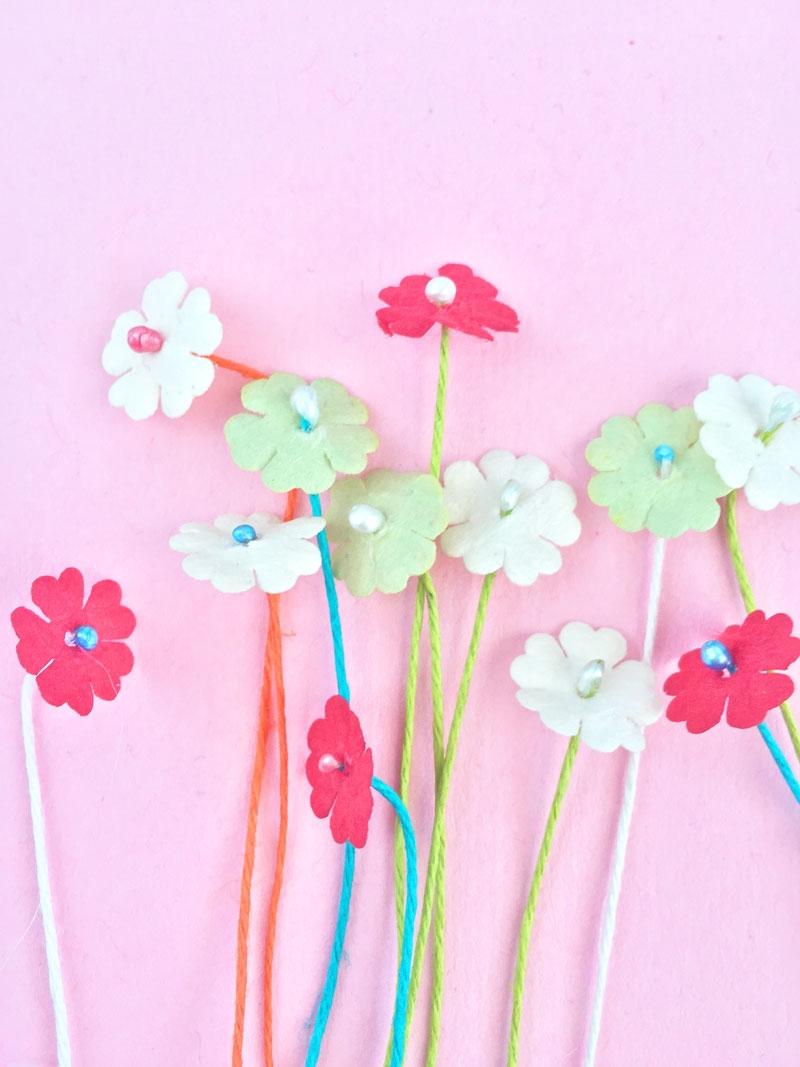 Diy Paper Flower Stamensmaritza Lisa