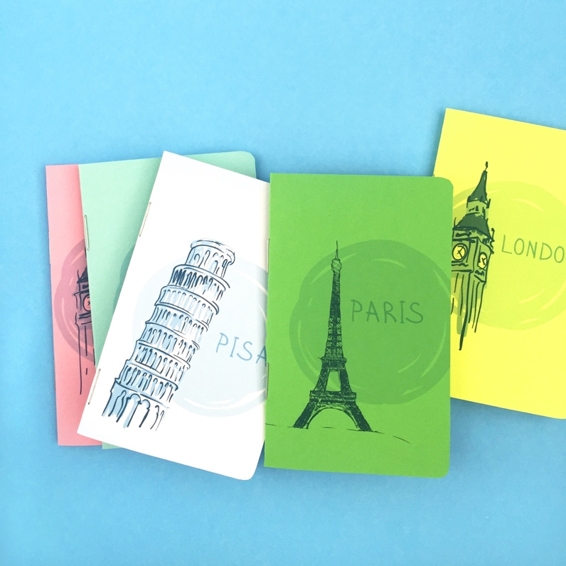 DIY Travel Journals - Maritza Lisa: Create these journals for your travels or as gifts for the travellers in your lives... Click through for the full tutorial