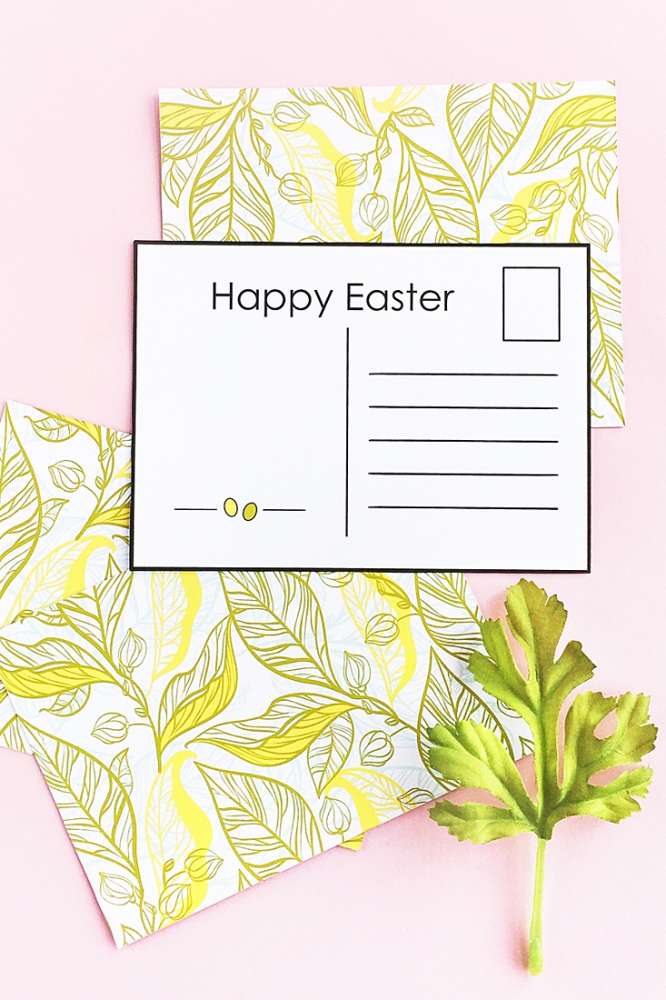 graphic about Easter Stationery Printable identified as Do-it-yourself Easter Postcards (Absolutely free Printable)Maritza Lisa
