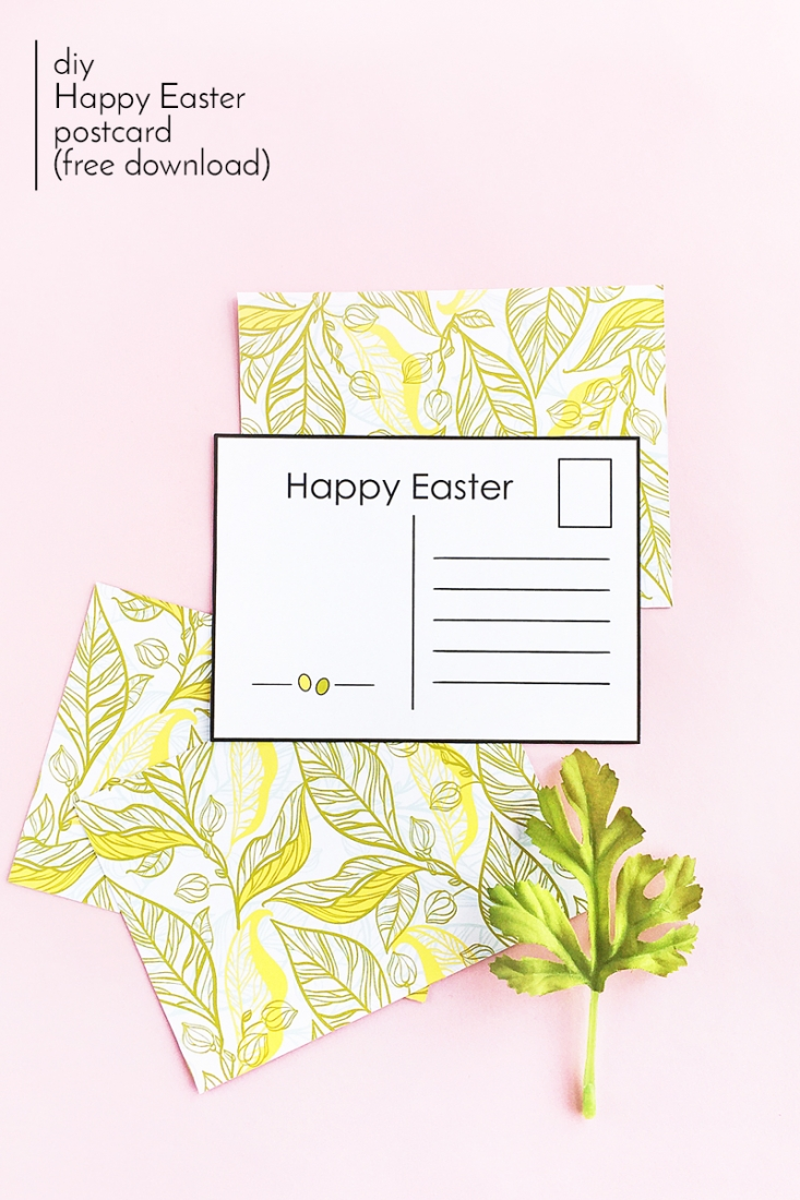 image relating to Printable Postcards Free called Do it yourself Easter Postcards (Cost-free Printable)Maritza Lisa