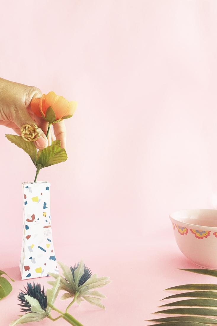 DIY Terrazzo Paper Vase