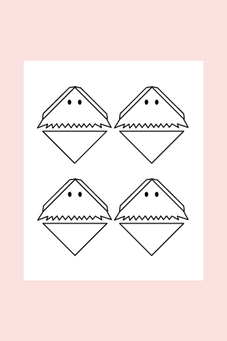 photograph about Ghost Printable known as Do it yourself Halloween Ghost Bookmarks - With Free of charge Printable!