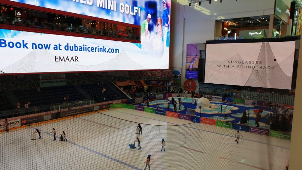 Patinoar in Dubai Mall