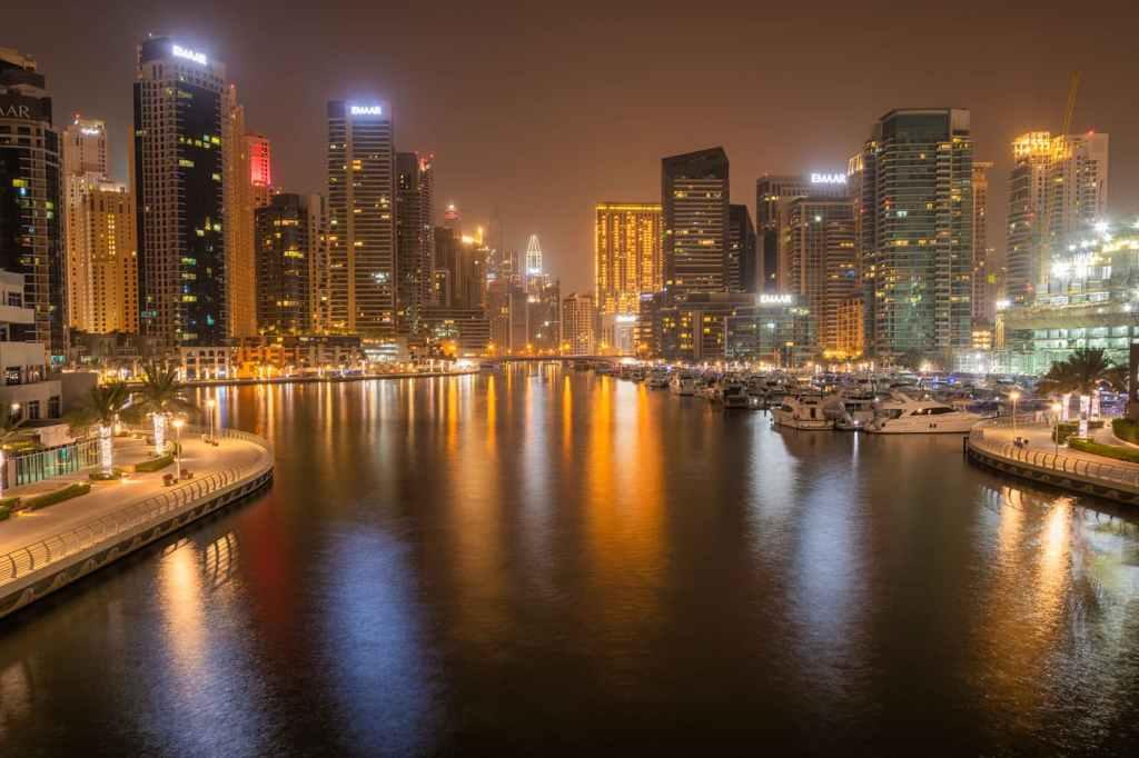 Dubai Marina - noapte - Dubai fotografii - Desert-Burj Khalifa