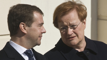 Дмитрий Медведев и Тарья Халонен