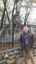 Усатый Шарафанов Саша, потомок восточных мари и усатый Шевченко, в видении известного скульптора И.Кавалеридзе.