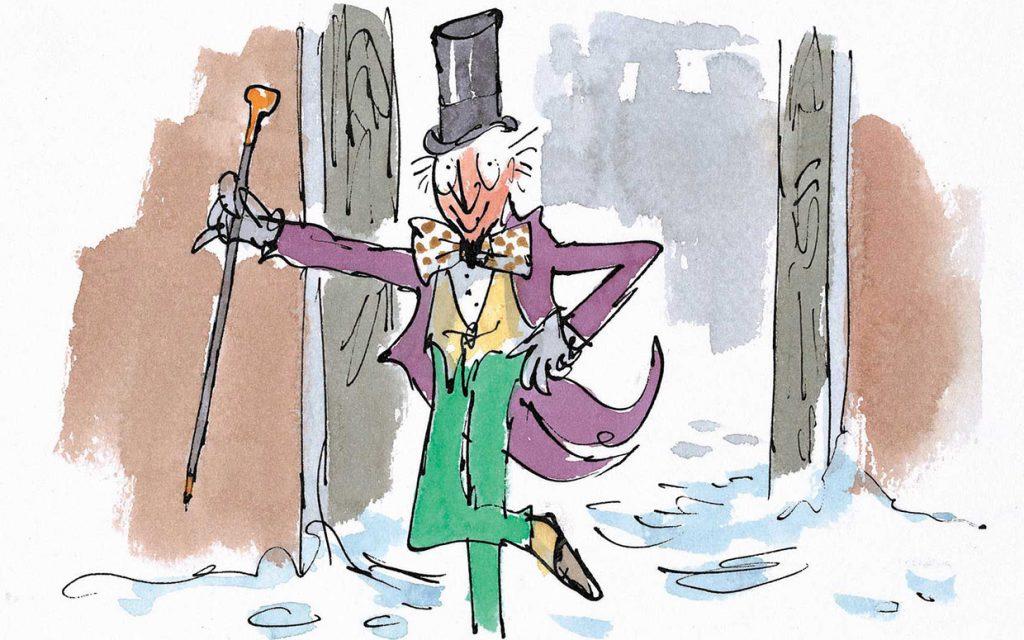 Willy Wonka dalam buku karya Roald Dahl