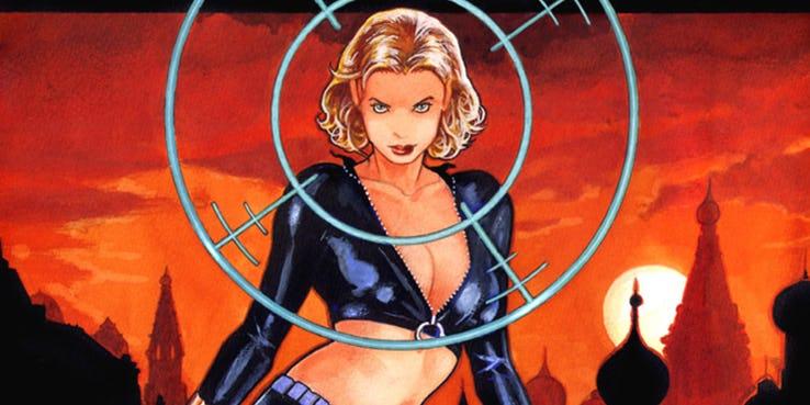 Yelena Belova sebagai Black Widow