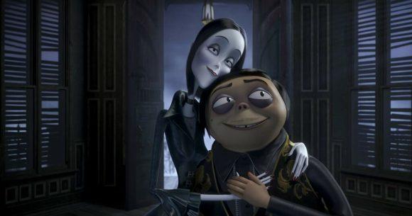 Morticia dan Gomez dalam film The Addams Family
