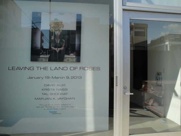 "Shulamit Gallery, ""Leaving the Land of Roses"" 17 North Venice Boulevard, Venice, California 90291, January-March, Reception: January 19, 2012, 7-9 p.m."