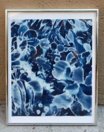 "Hadley Holliday Title: Untitled from All the Flowers at LACMA Medium: cyanotype, pencil on paper Date of work: 2016 Size: 14.25"" H x 11.25"" W x 0.75"" D Signed verso and framed Retail value: $800"