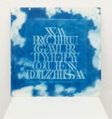 "Gala Porras-Kim Title: Whistling and Language Transfiguration Medium: LP album, Cyanotype print edition of 100 unique records Date of work: 2012 Size: 12"" x 12"" Signed verso Winning Bid: $200.00"