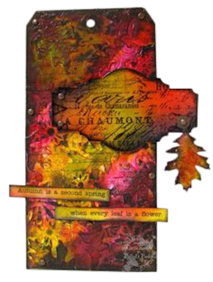 Tutorial with UTEE and Tim Holtz Sizzix dies - Marjie Kemper