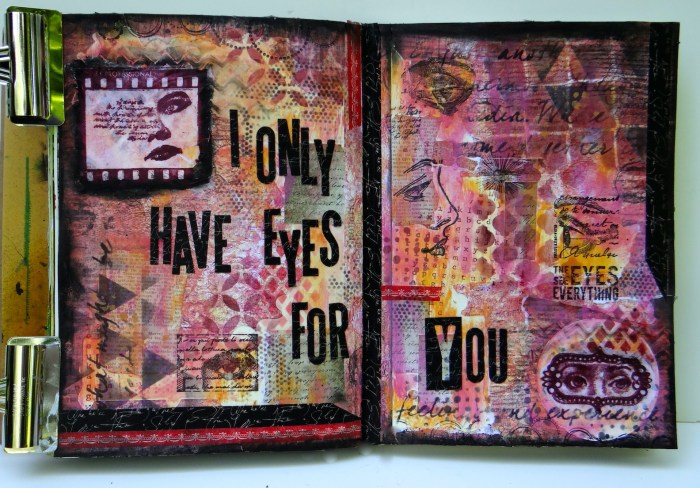 Mixed media art journaling (Marjie Kemper)