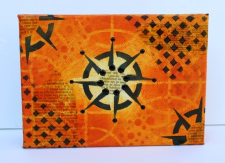 mixed media canvas (Marjie Kemper with StencilGirl Products)