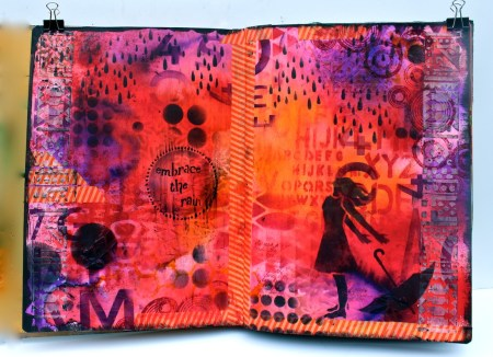 Art journal with Stencil Girl products - Marjie Kemper