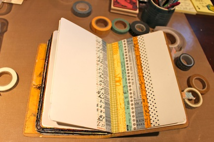 Kemper art journal with washi tape (2)